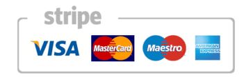 payment excepted Visa Mastercard maestro and American express